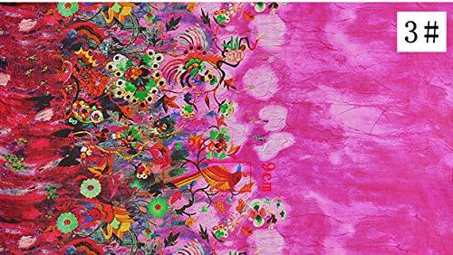 (Fabric African|13550cm Bird Flower Pure Mulberry Silk Tulle 100% Silk Chiffon Fabric Sewing Silk Scarf Fabric Wedding Dress Clothes DIY Tissue|by ATUSY)