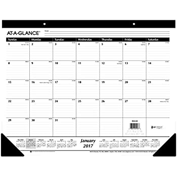 """AT-A-GLANCE Desk Pad Calendar 2017, Monthly, Ruled, 21-3/4 x 17"""" (SK24-00)"""
