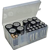 "Battery Organizer (Clear) (2.75""H x 6.5""W x 3.75""D)"