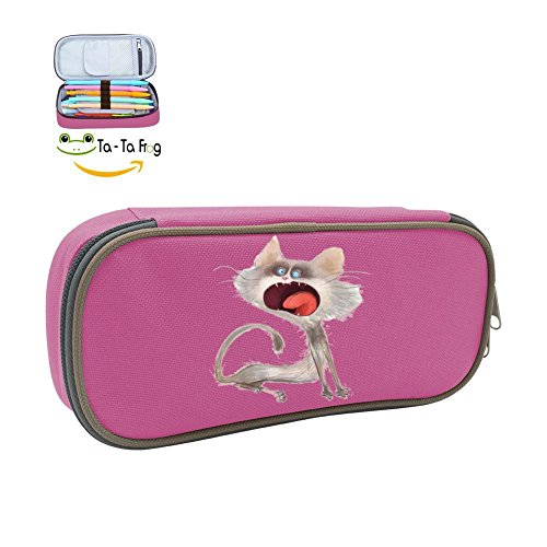 The Magic Pen Case Angry Cat Pencil Bag Big Capacity Multifunction Canvas-Pink For -