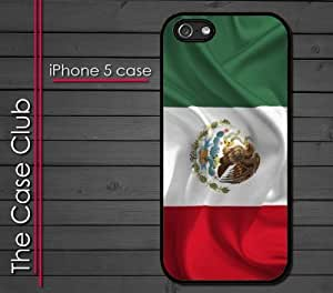 iPhone 5 Rubber Silicone Case - Mexico Flag waiving 3d style