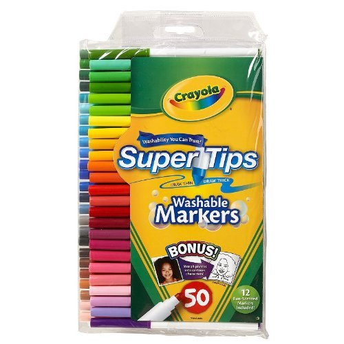 Crayola Super Tips Washable Markers 50