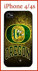 NCAA University of Oregon Ducks Case for iPhone 4 4s Case Hard Silicone Case by ruishername