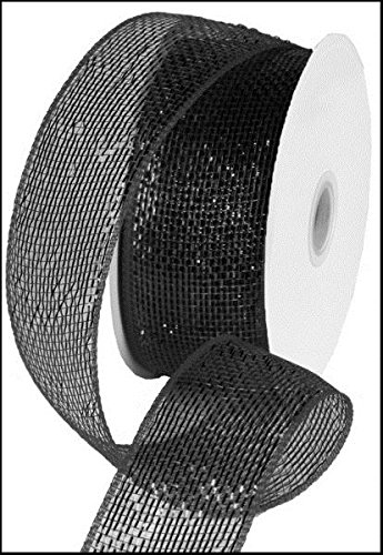 (Metallic Poly Deco Mesh Ribbon (2.5