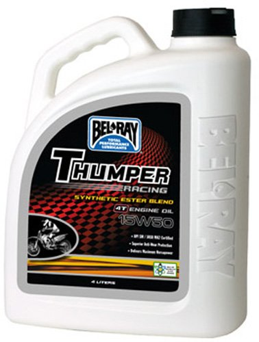 - Bel-Ray Thumper Racing Synthetic Ester Blend 4T Engine Oil - 15W50 - 4L. 99530-B4LW