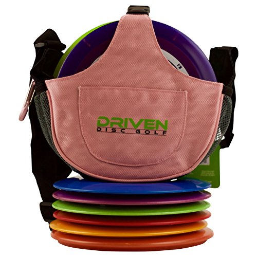 Watermelon Pink & Green Slingshot Disc Golf Bag by Driven (Bag only, Discs Sold Seperately)