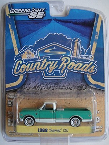 C10 Pickup Body - Greenlight SE Limited Edition Country Roads Series 12 - Teal/white 1968 Chevrolet C10 Pickup Truck 1:64 Scale Die-cast
