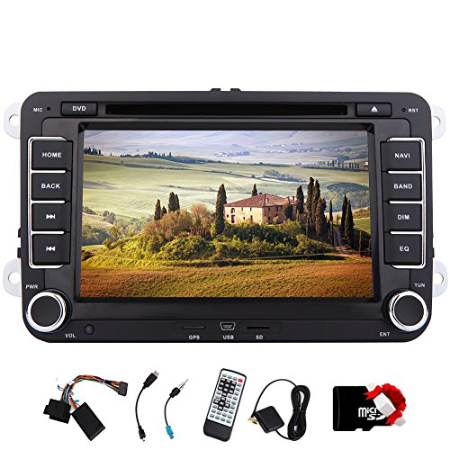 EinCar 7'' In Dash Car Stereo 2 Din Car GPS Navigation With DVD Player Head unit Car Audio For Volkswagen New Magotan/Sagitar/Golf With Built-in Bluetooth Free Canbus by EinCar