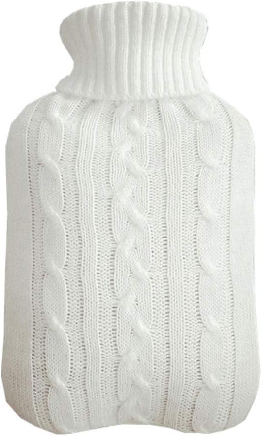 k/ältebest/ändiger Warmer waschbarer Abnehmbarer Schutzbezug Barley33 W/ärmflasche gestrickter Bezug