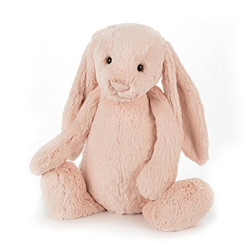 Jellycat Bashful Blush Bunny Stuffed Animal, Really Big, 31 inches