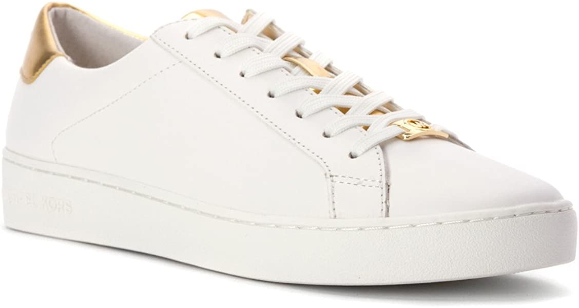 Amazon.com   MICHAEL Michael Kors Women s Irving Lace Up Sneakers,  Optic Pale Gold, 9.5 B(M) US   Fashion Sneakers 9fc54610a3bf