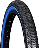 "Vee Tire Co. Speedster BMX Tire: 20"" x 1-3/8"" Folding Bead Black Tread Blue Sidewall"