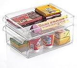 Kuuk Fridge Freezer Stackable Storage Boxes (Medium 8 x 6 x 12)