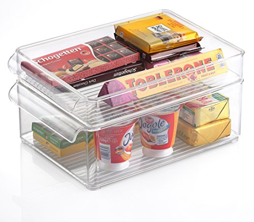 Kuuk Fridge Freezer Stackable Storage Boxes (Medium 8 x 6 x 12)