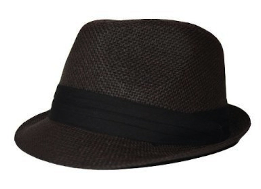 The Hatter Co. Tweed Classic Cuban Style Fedora Fashion Cap Hat, Brown