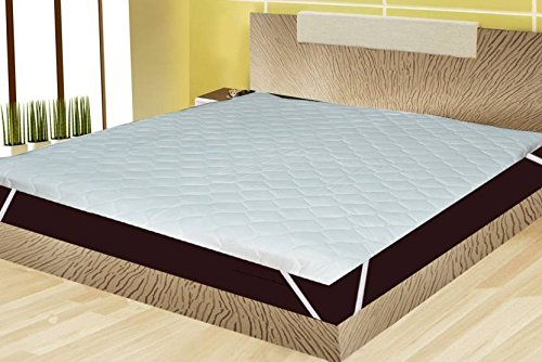 Rajasthan Crafts Microfiber Double Bed King Size Waterproof and Dust Proof Mattress Protector(White, 180x195cm)