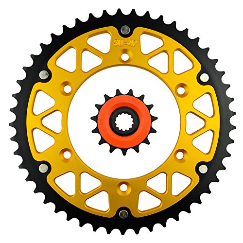 Price comparison product image AHL Front & Rear Sprocket Kit for Suzuki 350 DR350 SE T / V / W / X 1996-1999 (15T-49T)