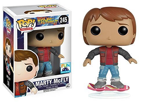 Funko Pop Movies Back To The Future 2 Marty McFly On Hoverboard Exclusive Vinyl Figure - Exclusive Necktie
