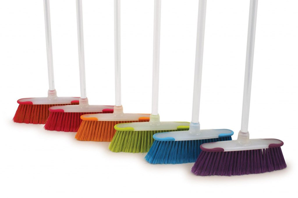 Bentley Brights Kitchen Broom With Handle Assorted Colours (306768)