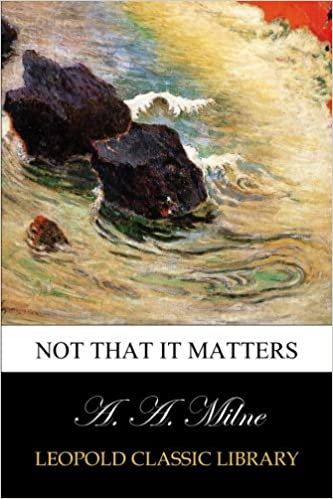 Book Not that it matters
