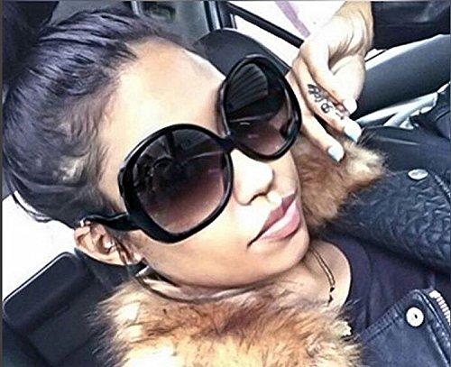 Oversized Sunglasses Women Fashion Huge Big Vintage Designer ()