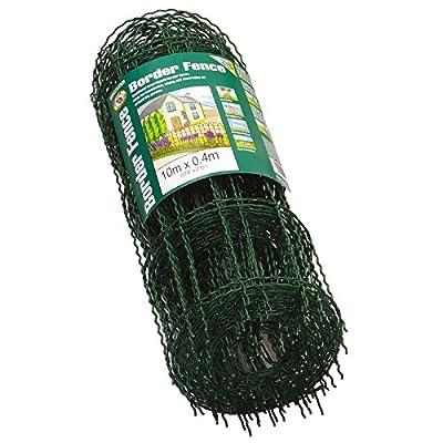 "Gardman 6500 - 16"" x 33' PVC Coated Green Border Fence"