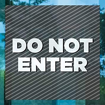 5-Pack Stripes Gray Window Cling Do Not Enter CGSignLab 12x12