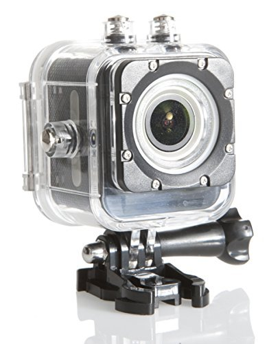 LiveShot 4k Action Camera w/ Waterproof Shockproof Case and Mounting Accessories