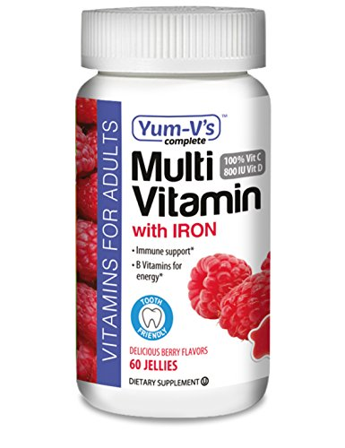Yum-V's Multivitamin with Iron 60 Dietary Supplement Jelly, Red, Berry, Regular, 8 Ounce