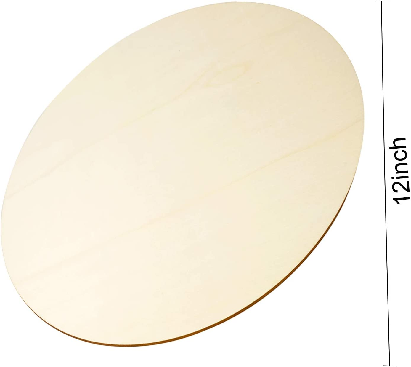 Wood Slices for Painting Party Holiday Decor Unfinished Blank Wooden Circle 3 Pieces Wood Circles for Crafts Home