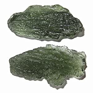 Meteorite Moldavite Cluster 49 Big Green Shark Fish Space Sailor Stones Astral Travel Crystals 1.1""