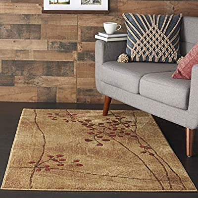 """Nourison Somerset  Latte Brown Area Rug, 3'6"""" x 5'6"""" - Somerset ST74 Latte 3'6"""" x 5'6"""" area rug by Nourison is a must-have for that home décor project. Whether you're decorating from scratch in a new home or you're just trying to enhance the beauty of your living space, this rug is just what you need. Nourison is the leading multi-category resource in today's floor covering market and offers a broad catalogue of items ranging from signature handmade area rug collections to lines like the prestigious Timeless collection. Nourison rugs are recognized for beauty, craftsmanship and value in every price and construction category. In this distinctive collection, premium quality Opulon yarns are used to create a densely woven luxurious pile of rug. The fashion appeal of the Latte color is warmly enhanced by the rich patina of the special fiber. A magnificent selection of traditional and transitional designs ensures that the Somerset collection will offer the right choice for any decorating style or home décor. This 100% polyacrylic indoor rug is 3'6"""" x 5'6"""" and is a perfect rug for your bedroom and living room area. - living-room-soft-furnishings, living-room, area-rugs - 51o45rBbn6L. SS400  -"""