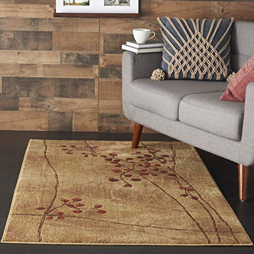 - Nourison Somerset  Latte Brown Area Rug, 3'6