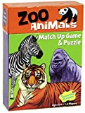 Peaceable Kingdom Zoo Animals 24 Card Match Up Memory Game and Floor Puzzle for Kids