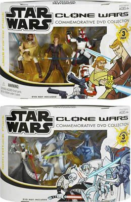 Star Wars Clone Wars Commemorative DVD Collection Exclusive - Set of 2