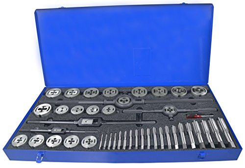 (Greenfield Threading 423163 Plug Tap and QS Die Set, 513 NCNF, HSS/Carbon, Uncoated (Bright) Coating, Right Cut, 45-Piece)