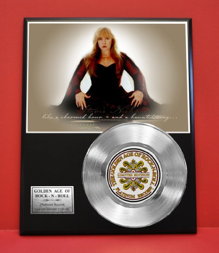 Stevie Nicks LTD Edition Non Riaa Platinum Record Display - Award Quality Music Memorabilia Wall Art - from Gold Record Outlet