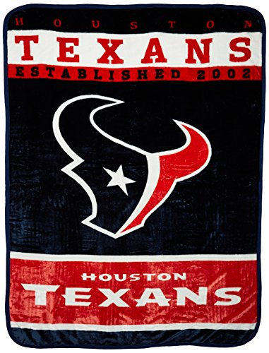 Houston Blanket - Officially Licensed NFL Houston Texans 12th Man Plush Raschel Throw Blanket, 60