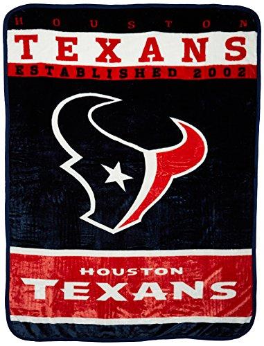 Houston Blanket - Officially Licensed NFL Houston Texans 12th Man Plush Raschel Throw Blanket, 60