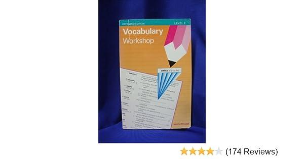 Vocabulary Workshop Level E Jerome Shostak 9780871051752