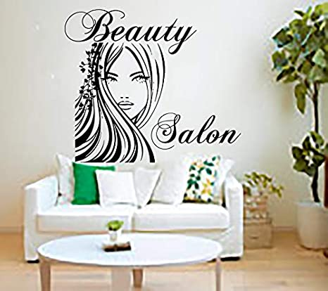 Amazon Com Beauty Salon Wall Stickers Decal Hairdressing Salon Decor Living Room Home Interior Design Art Mural Wall Decor Salon Girl Yo 91 Home Kitchen