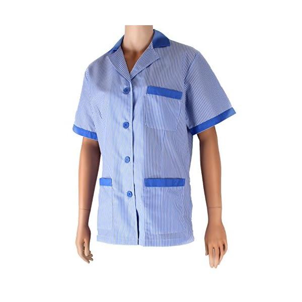 MISEMIYA - Casaca Mujer Cuello Solapa Raya Uniforme ESTÉTICA Médico Enfermera Dentista Limpieza Veterinaria SANIDAD HOSTERERÍA Ref:T820 3