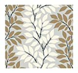 York Wallcoverings BL0320SMP Tres Chic Leaf Branch Stripe  Wallpaper Memo Sample, 8-Inch x 10-Inch
