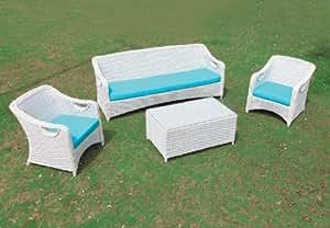 Salina sillón blanco polirattan c / almohada