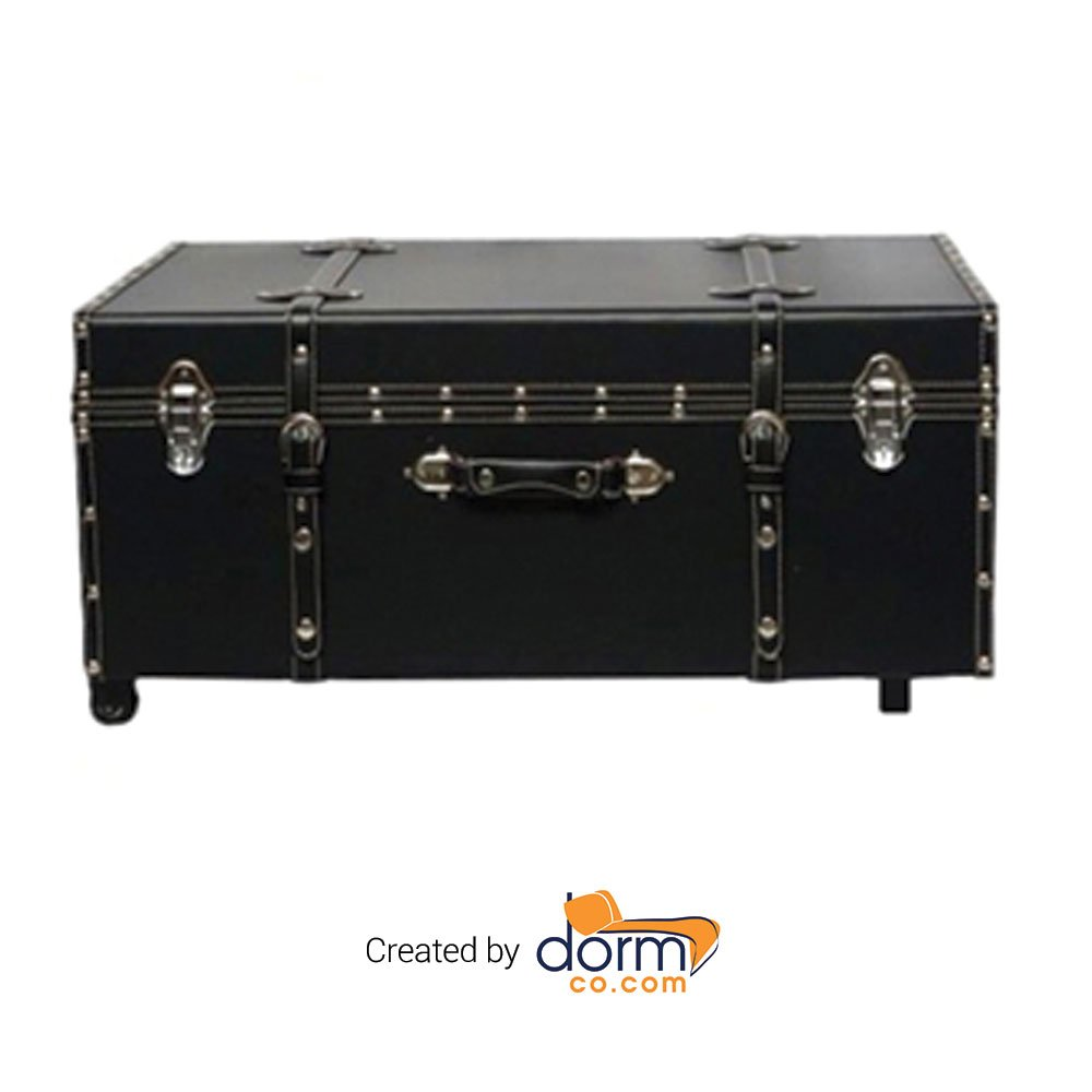 The Designer Wheeled Trunk - Black - Large