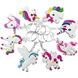 O'Hill 40 Pack Rainbow Unicorn Keychains Key Ring Decoration Birthday Party Favor Supplies