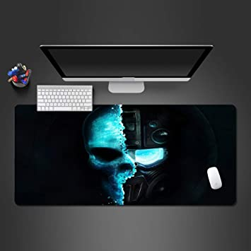 sxkdyax Cojín de ratón del cráneo Azul Doble Doble frío PC ...