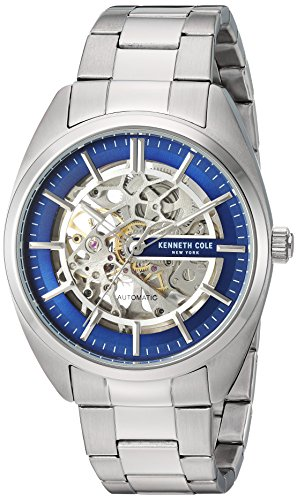 Kenneth Cole Skeleton Watch (Kenneth Cole New York Men's Automatic Stainless Steel Casual Watch, Color:Silver-Toned (Model: KC50064003))