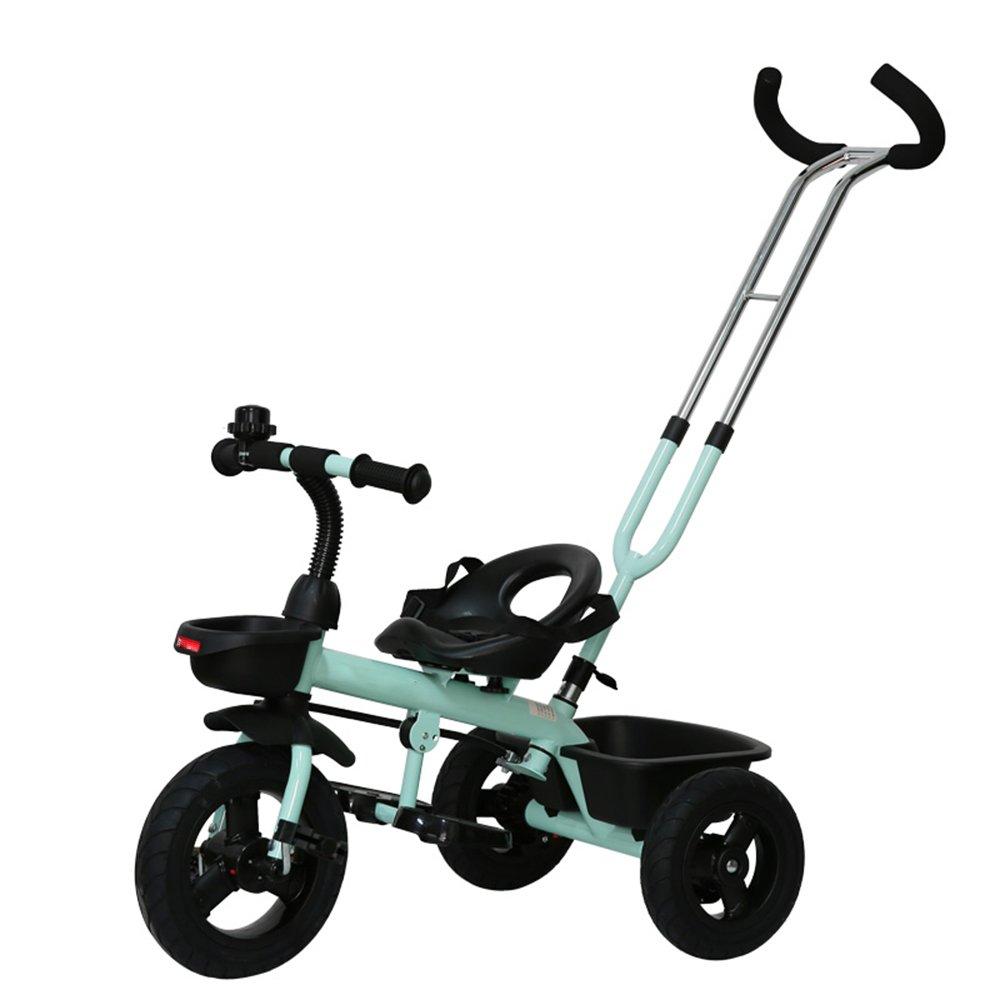 YANGFEI 子ども用自転車 子供の三輪車バイク1-3歳のベビーバイクベビーカー2-4-6歳 212歳 B07DWSK3B7 Green-2 Green-2