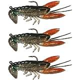 Lixada 8cm / 14g Soft Crawfish Bait Shrimp Lobster Claw Artificial Lure Swimbait
